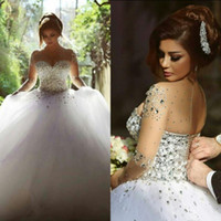 Cheap A-Line real image wedding dress Best Real Photos 2015 Fall Winter plus size wedding dresses