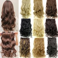 Wholesale Guess fashions women Long inch cm Clip in On Curly Hair Extensions Synthetic false Hairpiece blonde secret hair pad pieces
