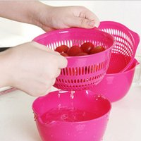 Wholesale 2 Kitchen Accessories Strainer Fruit Vegetable Tools With Drain Basket And Drain Screen Cooking Tools