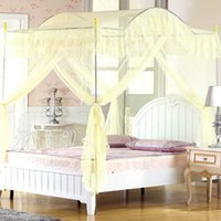 arched curtains - H amp L Mosquito Net Bed Canopy Bedroom Corner Door Curtain Arch Frame