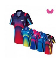 Wholesale JAAT Butterfly table tennis clothes Men Table Tennis badminton shirts table tennis uniforms BWH