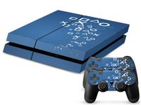 Cheap PS Style PVC Protection Decal Skin Cover Case Sticker For Sony PS4 Console Playstation 4 Console+2 Controllers