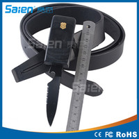 Wholesale Outdoor Leather MASTER knife Belt Multifunction Belt Camping Hunting Survival with bottle opener Tools sizes available