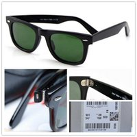 Wholesale New High Quality Plank Tortoise Frame Sunglasses glass Lens Green Lens Sunglasses beach sunglasses