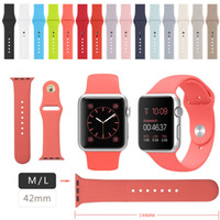 apples red inside - 15 Colors Available in Silicone Strap Band for Apple Watch mmn mm with Inside Connector Adatper