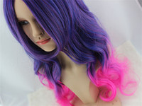 Wholesale Long Curly Synthetic cosplay costume wig anime lolita wigs