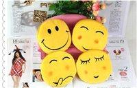Wholesale QQ expression Coin Purses cute emoji coin bag cheap plush pendant lowest price new arrivals