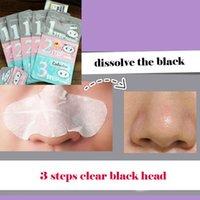 Wholesale Gray pink blue steps each minutes pig nose black head clear sticker shrink pores steps kit
