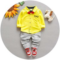 boys suits - Baby Suit Korean Long Sleeve T Shirts Boys Clothing Sets Child Clothes Spring Trouser Pants Boys Suits Children Set Kids Outfits C19576