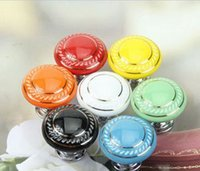 Wholesale Hot Selling Kitchen Handles Pull Drawer Ceramic Cabinets Cupboard Door Knobs Retro Style