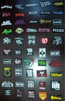 Wholesale 20 from Assorted designs Heavy Metal Rock Music Hardcore Punk Band Logo Embroidered Sew On IRON ON and SEW ON Patch badge