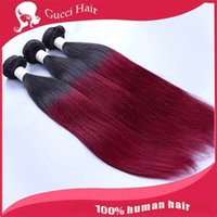 bg lots - 6A Double color hair huamn Hair extension straight Tone b BG Remy Human Hair Weave no shedding no tangle