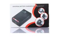 Cargador inteligente universal de la batería del indicador del LCD Para el samsung GALAXY S4 I9500 S3 I9300 NOTA 3 S5 con la carga de la salida del usb US EU AU PLUG 2017