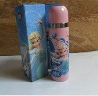 Wholesale NEW ARRIVE Stainless steel Frozen Elsa Anna Kid Children Girls Thermos bottle Water Bottle ML