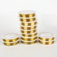 El color libre 10roll / lot del oro del alambre de cobre del alambre del arte del envío el 100%