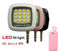 Wholesale Portable Mini Selfie LED Flash Fill Light For iPhone iPad Samsung Sony HTC LG IOS Android WP8