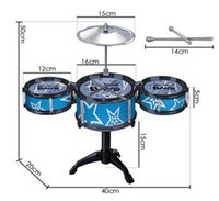 Wholesale Jazz Drum Rock Set New Child Kids Jazz Drum Rock Set Christmas Gift Music Educational Toy