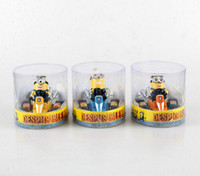 Wholesale 50pcs New Cartoon Minions Toys Figures Despicable Me Minions Racing Car Model Anime Toys Three Styles for Chose Minions