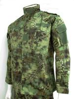 army field uniform - Kryptek Mandrake Camo BDU Field Uniform Set Army Shirt Pants War Game Typhon Camo Tactical Combat Shirt Pants Highlander Camo