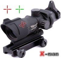laser sight - 2015 New Hunting ACOG X32 Telescopic Sight Red Green Dot Laser Sight mm Mounts Scope Sight
