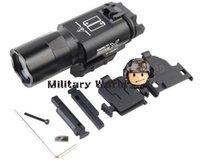 airsoft gun types - Original Airsoft Tactical Combat Fight Night Evolution X300U LED Flashlight Tactical Gun Light For mm Rail NE01008 Black