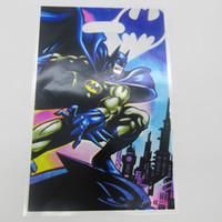 batman shop - batman printing plastic hand length handle loot lolly bag shopping gift bag party bag