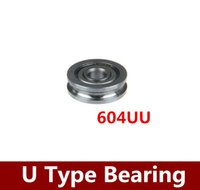 bearing guide rails - 50PCS x13x4mm U Groove Sealed Guide Pulley Rail Ball Bearing UU Rapid Prototyping Bearings for D Printer Freeshipping order lt no t