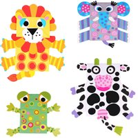 Wholesale Lin Fang g bag hand puppet gift nursery children diy handmade hand pasted materials to the parent child toys