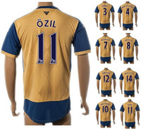 gold top - Thai Quality Customized season OZIL Soccer Jerseys Sports Soccer Wear Shirts Athletic Outdoor Football Jersey Tops