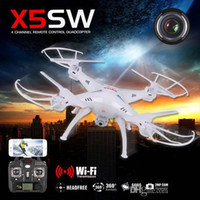 Wholesale High quality X5SW RC Drone Quadcopter with HD Camera RC Helicopter Toy with WiFi Remote Control Line