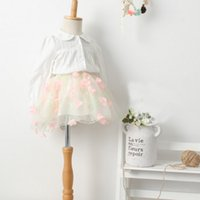 single flowers - Girls New Fashion Princess Sets Spring Summer Childrens Sweet Lace Shirt And Flower Tutu Skirt Outfits Baby Lovely Suits Kids Clothing