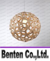 bamboo light fixtures - Nordic Bamboo Coral Pendant Lights Modern Creative Fixtures Dia mm Simple Wooden Ball Coral Pendant Lamps by David Trubridge LLFA4734F