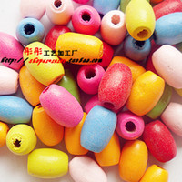 Wholesale Min order is mix order buttons MM Oval wooden beads DIY jewelry accessories wood buttons cartoon wood buttons craft kids