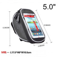 Wholesale ROSWHEEL M quot Bike Bicycle Cycle Cycling Frame Tube Panniers Waterproof Touchscreen Phone Case Bag