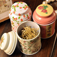 wholesale tea tins - Vintage style flower series tea box tin box storage case organizer Iron case storage container