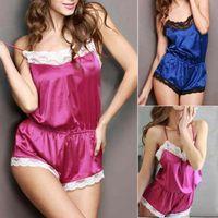 women sexy dresses - Hot Sales Sexy Women Lady Dress Underwear Satin Lace Robe Sleepwear Lingerie Nightdress one piece Pajamas NX180