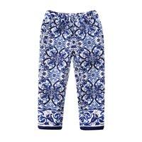 floral print pants - Wl Monsoon Girls Pants Children Baby Trousers Brand Dobby Floral Majolica Kids Pants for Girls Leggings Casual Pants Years