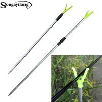 Wholesale 3 Sections Adjustable Aluminium Fishing Rod Pole Rack Y Holder Support Stand Fishing Tools