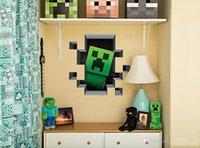 50pcs enfeite de Natal Minecraft Adesivos de Parede Creeper Decorativos de Parede Decal a Caricatura 3D papel de Parede de Crianças salão de festas, Decoração de Arte de Parede
