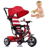 baby bike - Promotion Sales Anti uv Baby Tricycle Trolley Kid Outdoor Activity Bike Adjustable Solid Tire Children Carriage Stroller JN0037 smileseller