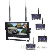 Wholesale 2 G Digital Wireless Systems inch TFT LCD Monitor Four CMOS TVL Car Rear View Wireless Backup Camera For Truck Car Bus