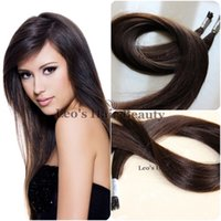 cold fusion hair extensions - 2 inch dark brown best Quality Silky Straight Stick I Tip Brazilian Remy Hair g package Cold fusion remy extensions