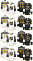 Wholesale 2016 NHL All Star Men s Komarov Kane Larkin O REILLY Black White Ice Hockey Jerseys Good Quality