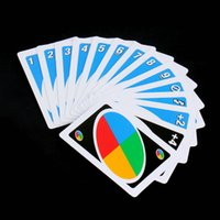 Wholesale Family Funny Entertainment Board Game UNO Fun Poker Playing Cards Puzzle Games Brand New