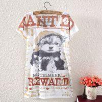 big carts - New Fashion Big Size Women s Batwing Sleeve T Shirt Print Deer Owl Totoro Cart Tees Tops Women T Shirt Kawaii Loose Tshirt C1934