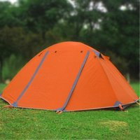 Wholesale Winter tent with snow skirt persons aluminum pole double layer double door windproof proof professional camping tent TY1381