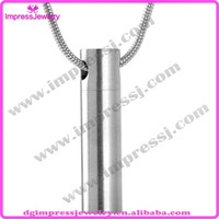 ashes locket - IJD2023 classic design shiny polishing L stainless steel ashes keepsake urns necklace memorial cremation jewelry