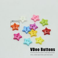 Cheap 12mm lovely star shape candy color clothing buttons multicolor mix 200pcs lot free shipping