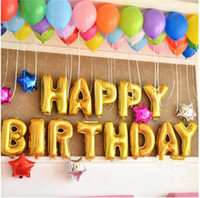 Wholesale inch Cute Gold Alphabet Letters Balloons Happy Birthday Party Decoration Aluminum Foil Membrane Ballon Wholesales