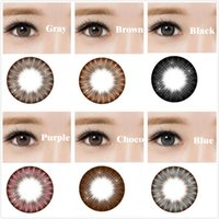 Wholesale Cosmetic Colored contact lenses for eyes Beauty Girls series yealy use DIA mm Coloured contacts eye color Freeshipping